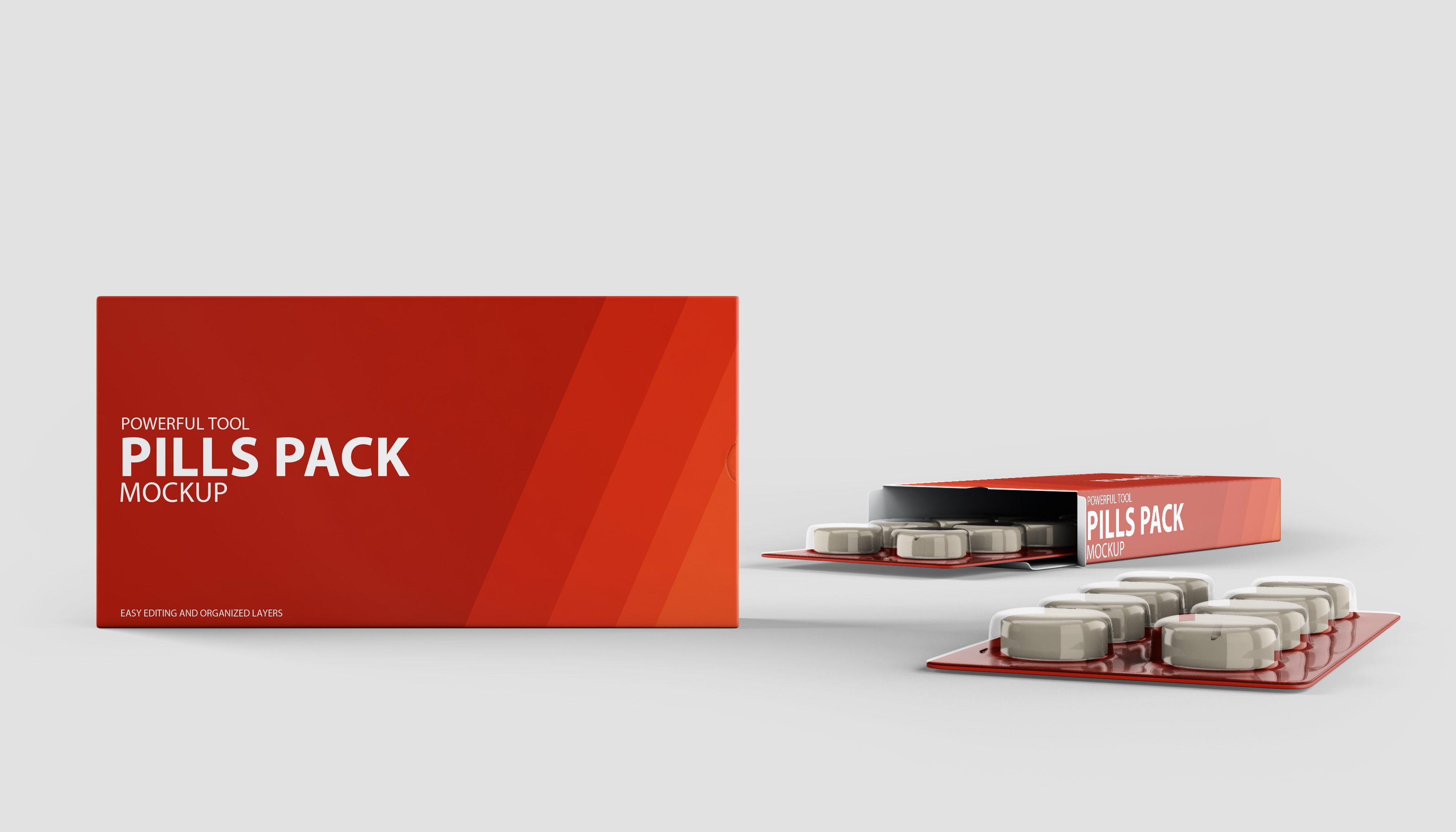Pills Package Pills Mockups