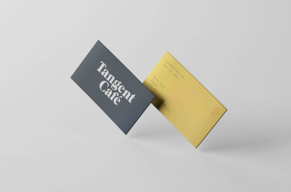 Black Business Cards Mockups