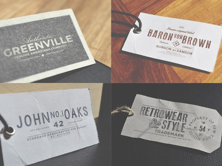Clothing Logo Label Mockup