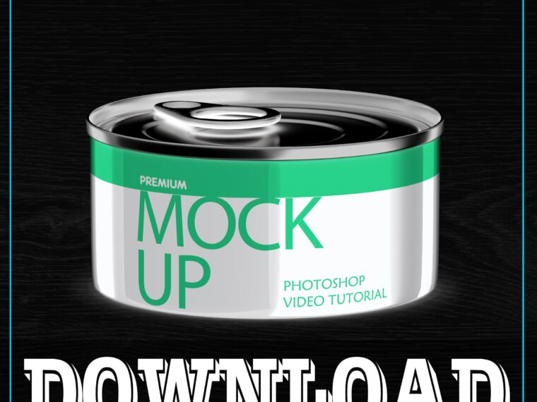 Paint Can Mockup