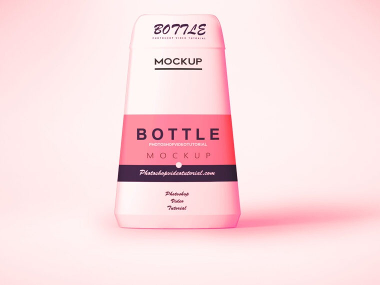 Pink Beauty Bottle Mockup