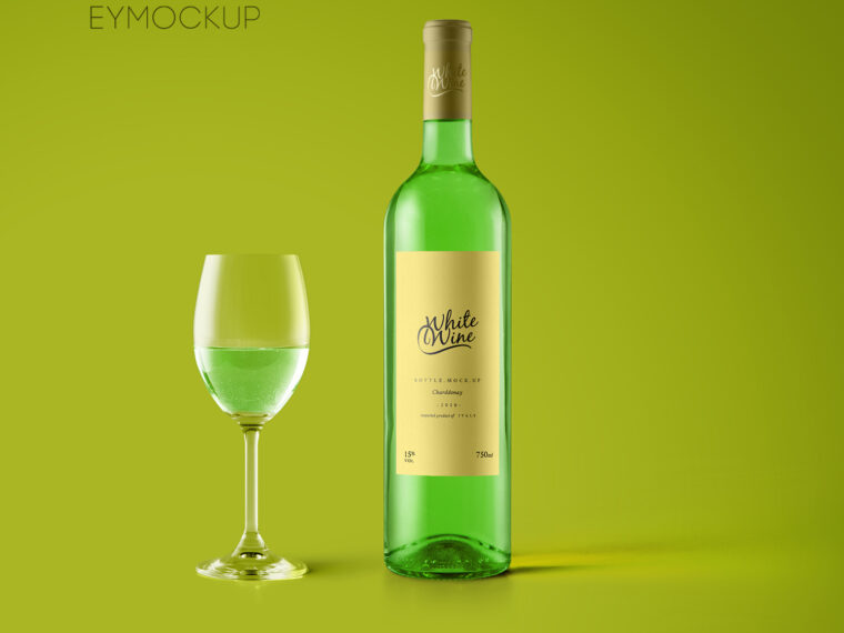 Beautiful Wine Label Mockup