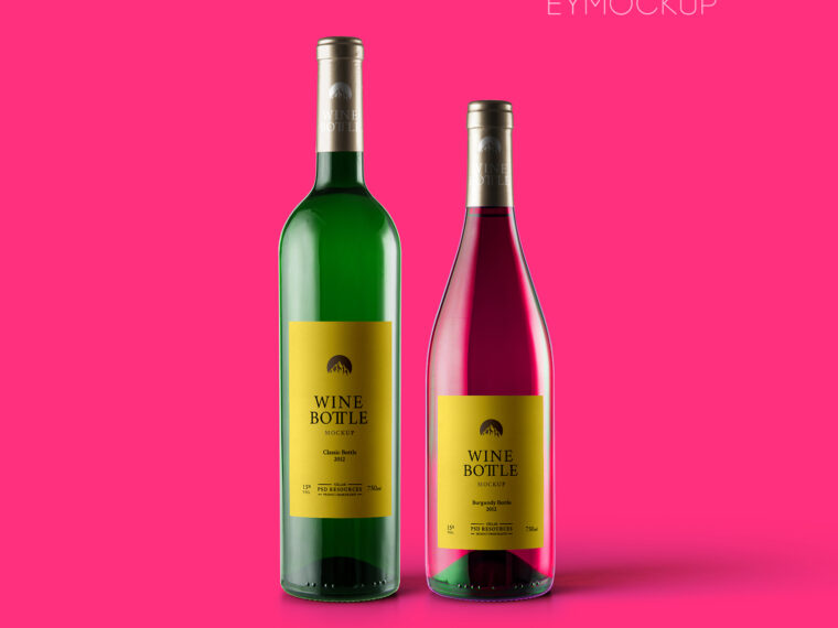 Eye Catching Wine Bottle Label Mockup