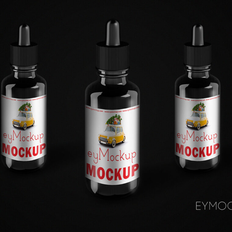 Eye Dropper Label Mockup