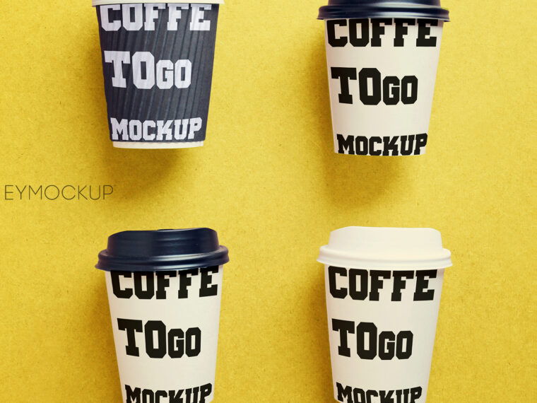 Modern Coffee Cups Mockup