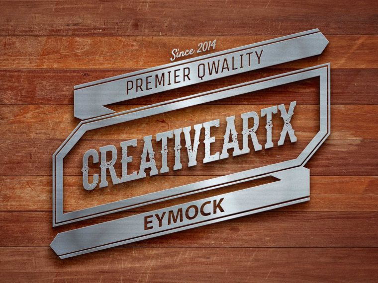 New Wooden Wall Logo Mockup 2017