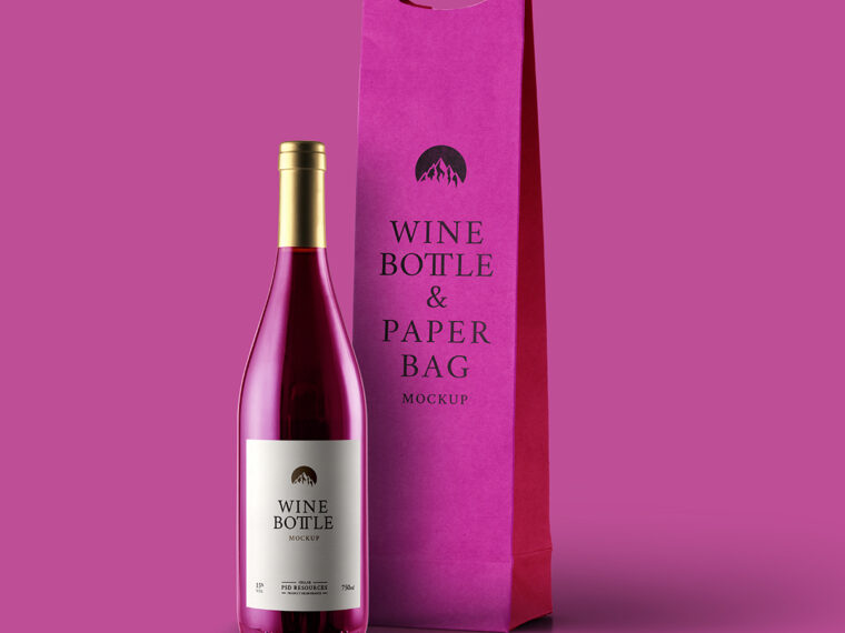 Wine Packaging  Wine Bottle Label Mockup