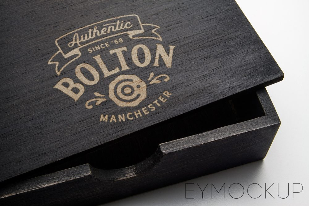 Wodden Box Logo Mockup