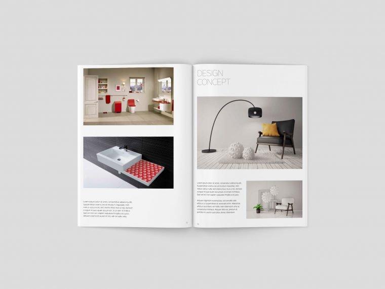 A5 Magazine Brochure Mockups
