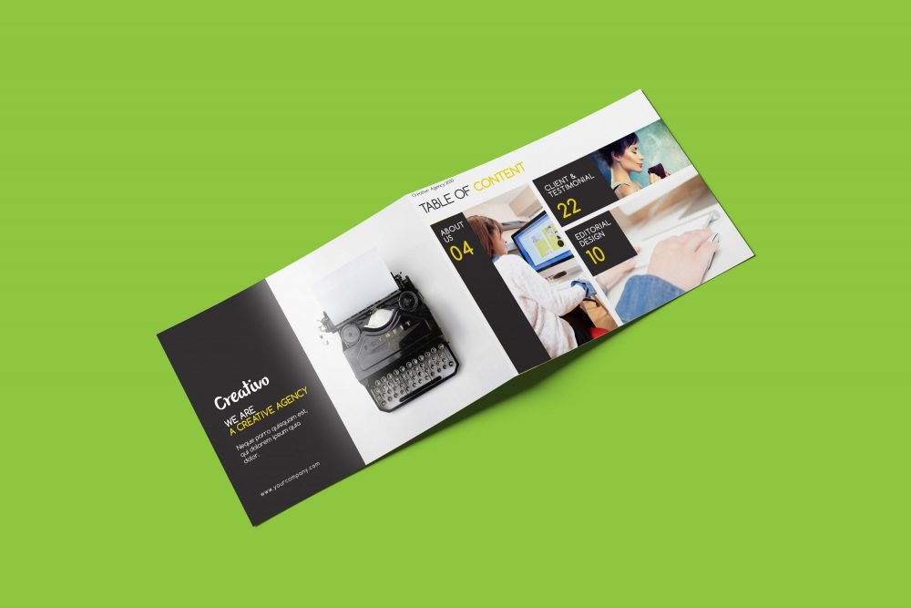 Rectangle Brochure Mockup