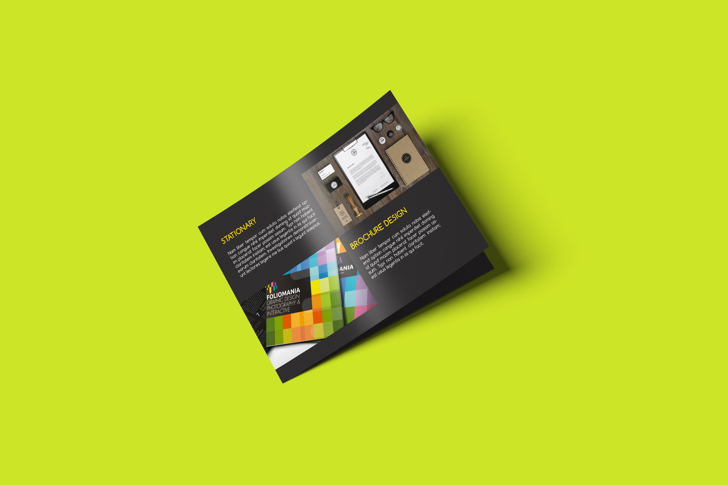 Rectangle Brochure premium Mockup