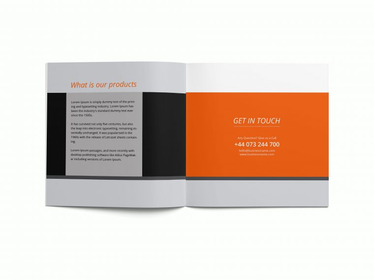 Awesome Brochure Square Mockups