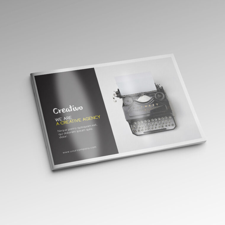 Rectangular Brochure Mockup