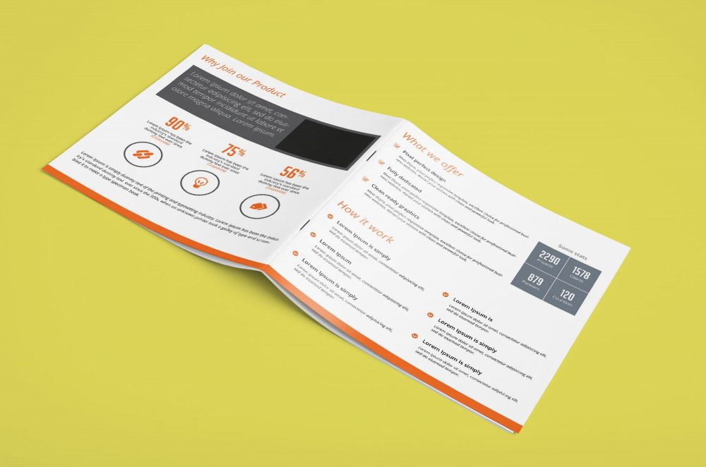 latest Square Brochure Mockup