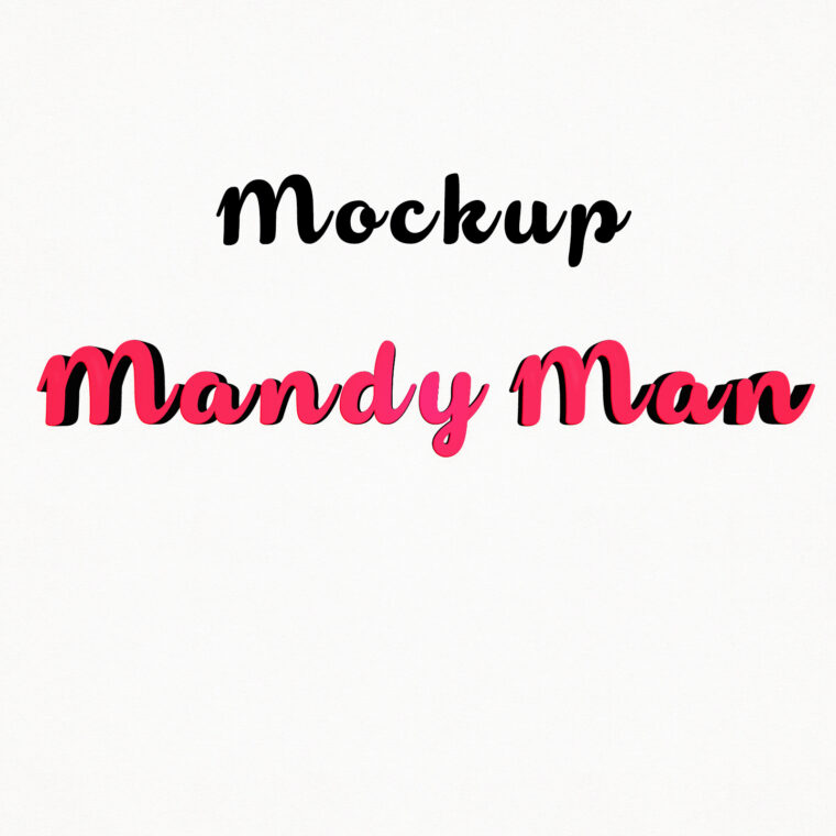 Mandy Man 3D Mockups