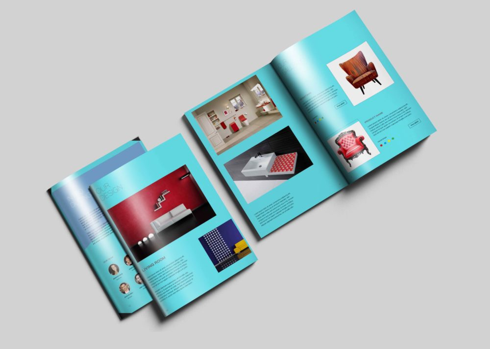 Cool brochure psd mockups
