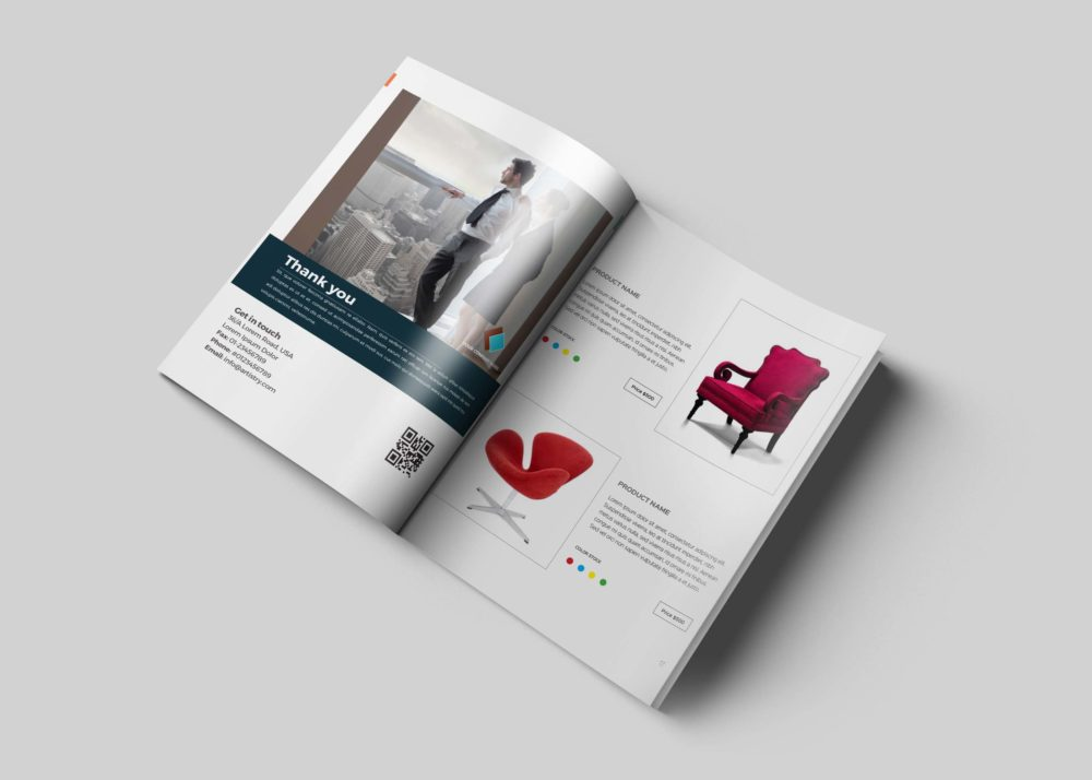 Bi-fold brochure mock up free