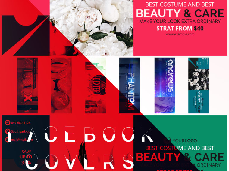 DJ & Beauty FB Cover Designs
