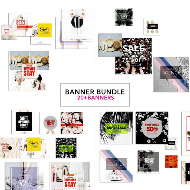 Instagram Banners Bundle Pack