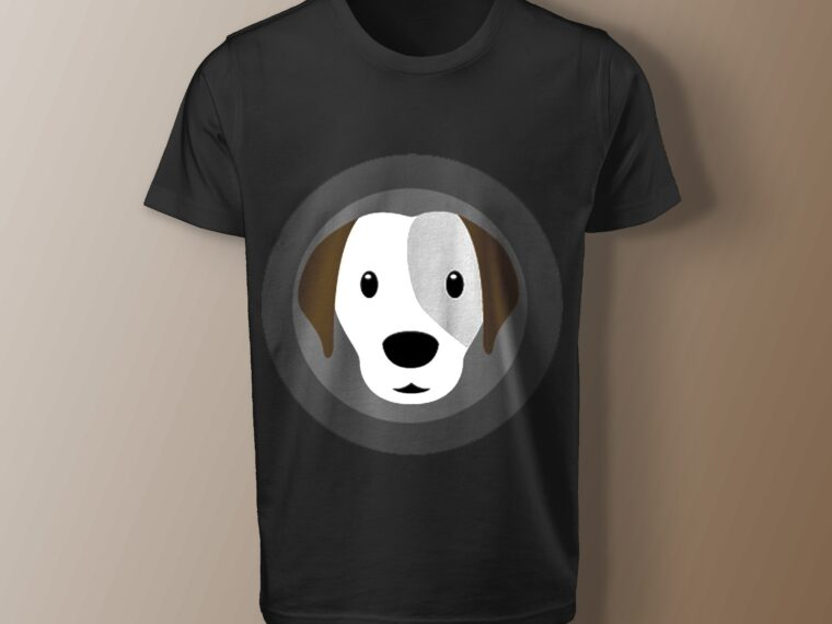 Doggy T shirt Art Mockup