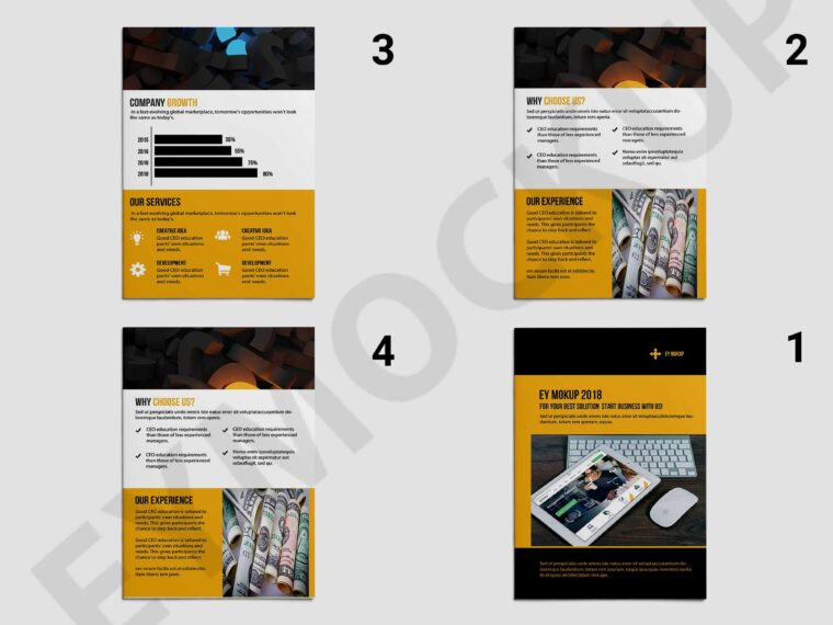 Awesome Creative Bi-Fold Business Brochure Template