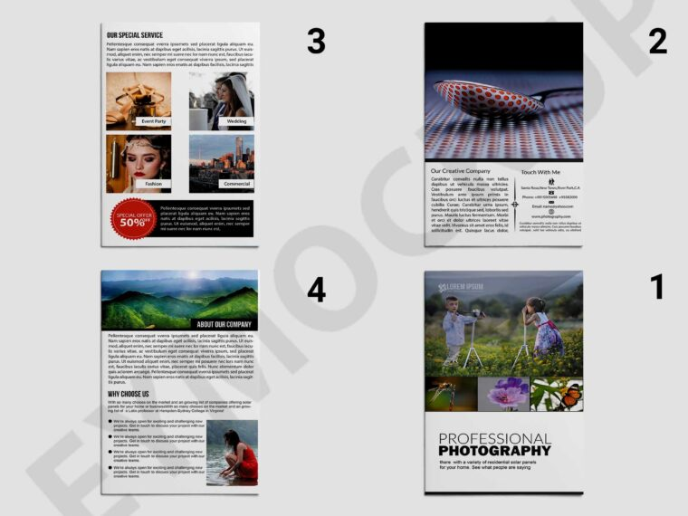 Pro-Photography Bi-Fold Brochure Template