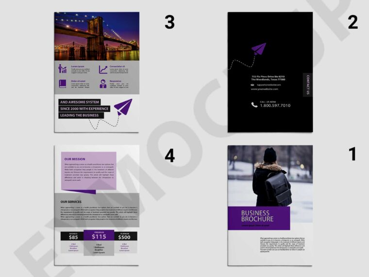 Traveler Bi-Fold Brochure Template
