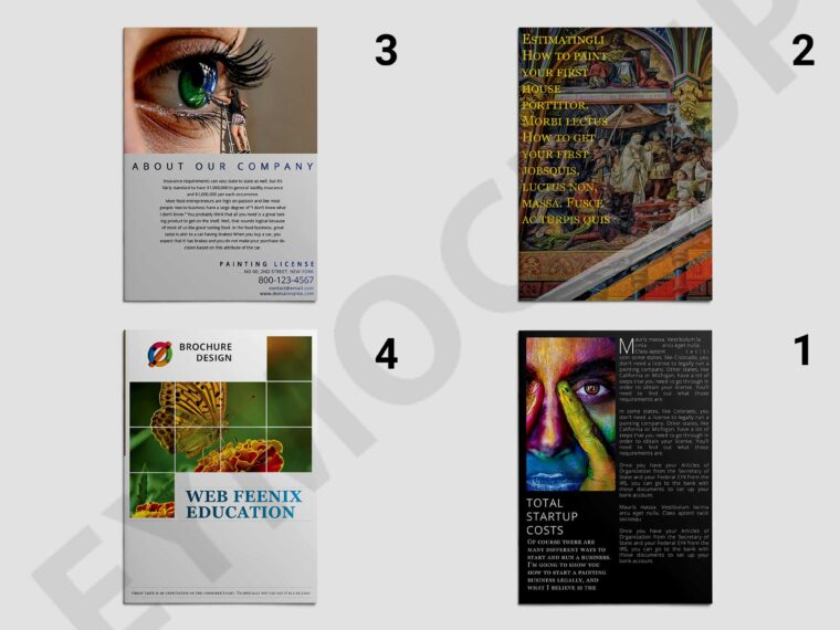 Creative Art Bi-Fold Brochure Template