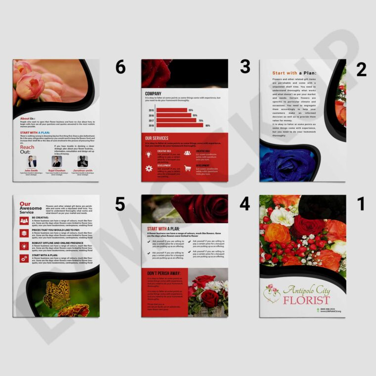 Flower Product Brochure Template