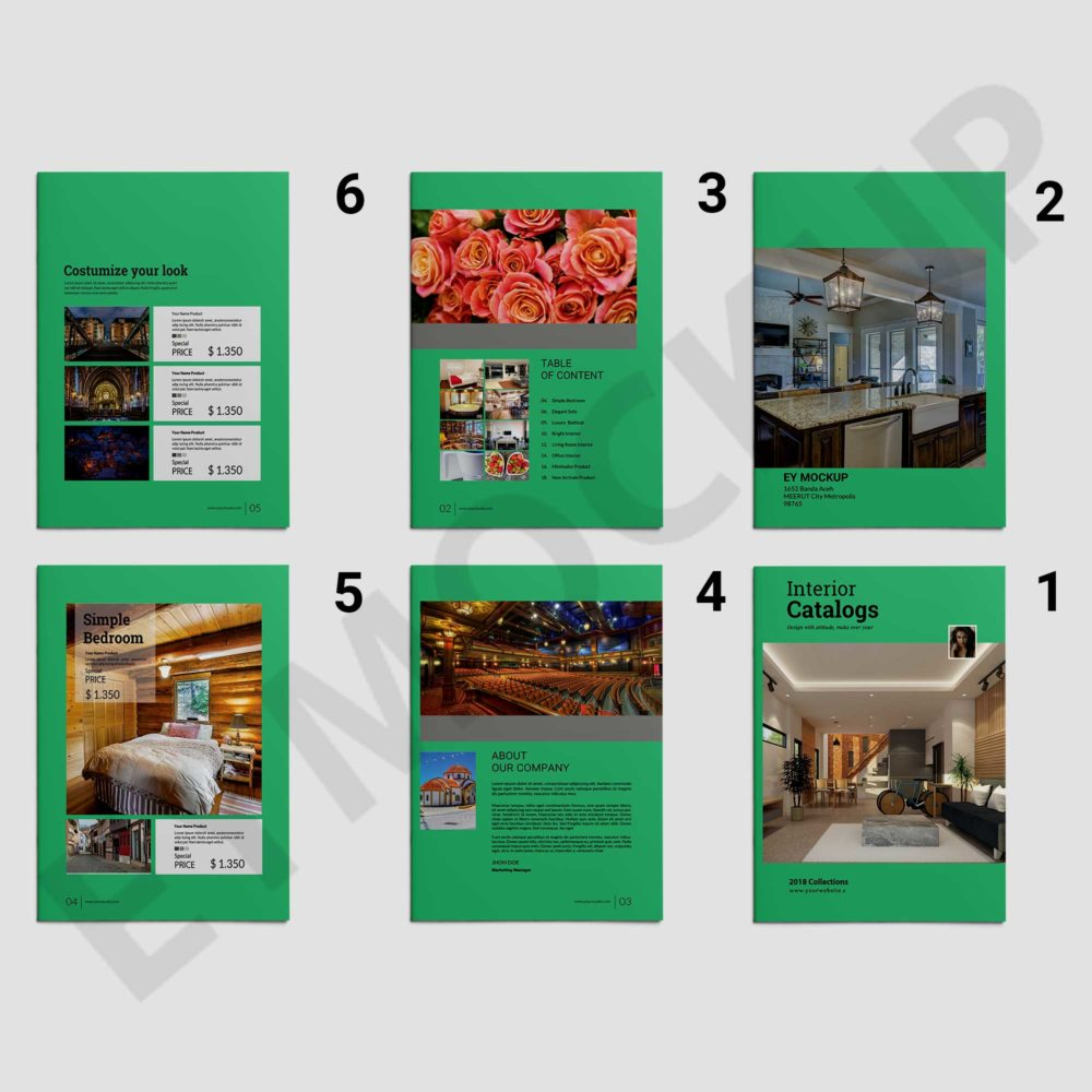 Interior Catalogs Brochure