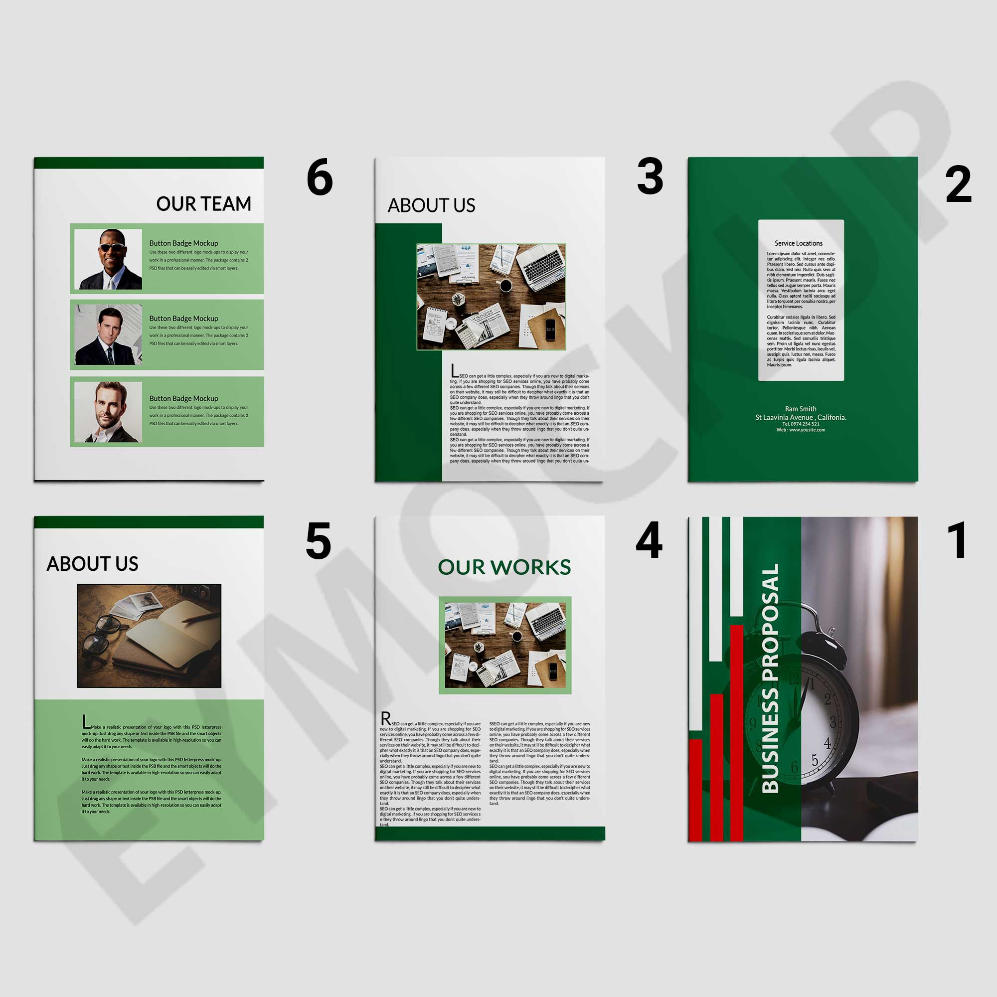 Modern creative business proposal template eymockup responsive image cheaphphosting Gallery