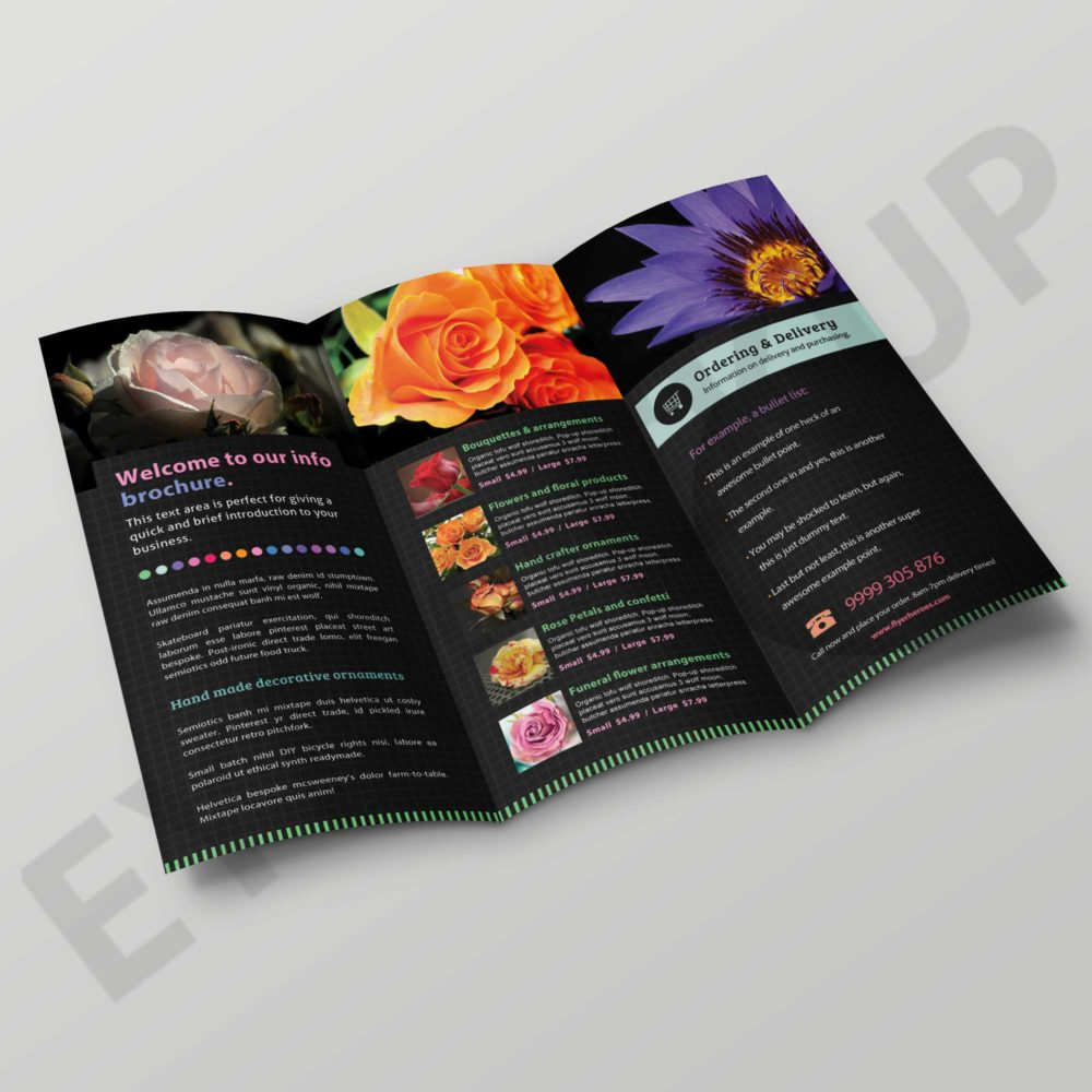 Flower Shop Brochure