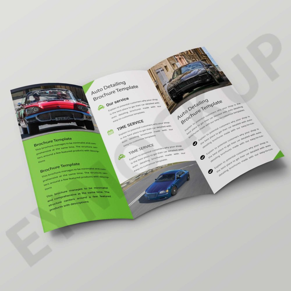 Tri-Fold Car Showroom Brochure