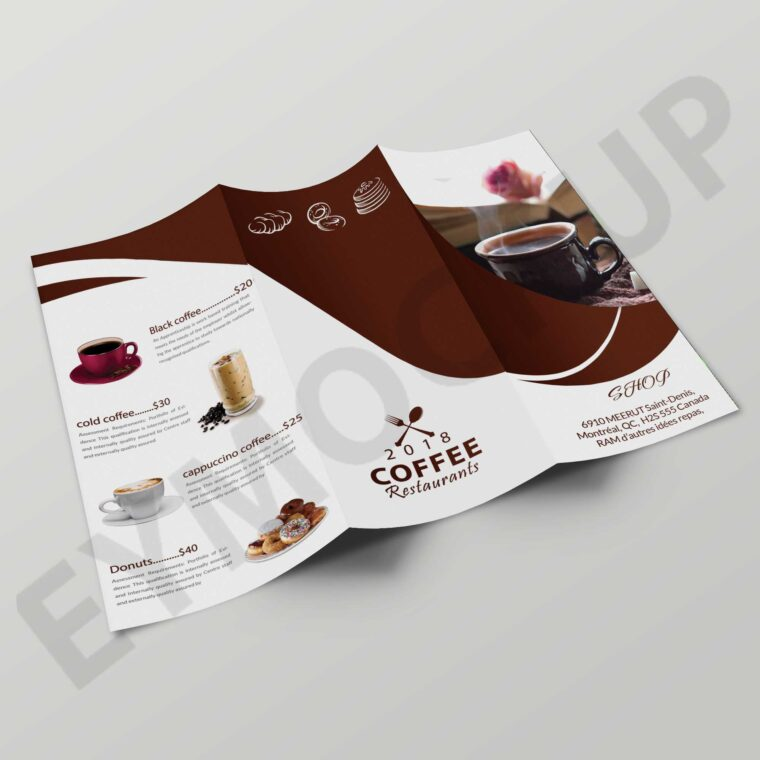 Coffee Tri-Fold Brochure