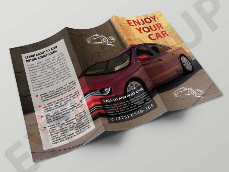 Car Showroom Tri-Fold Brochure Templates