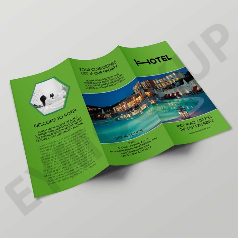 Real Estate Hotel Tri-Fold Brochure