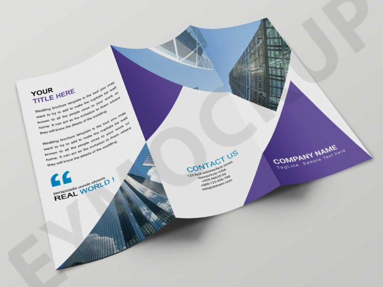 Latest Tri-Fold Corporate Brochure Template