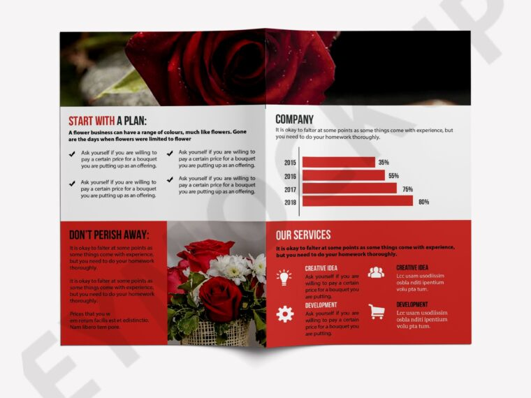 Creative Flower Product Brochure Template