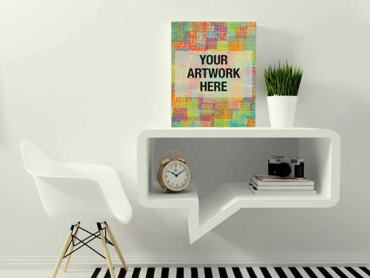Canvas Poster Mockup