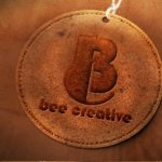 Embossed Leather Logo Mockup