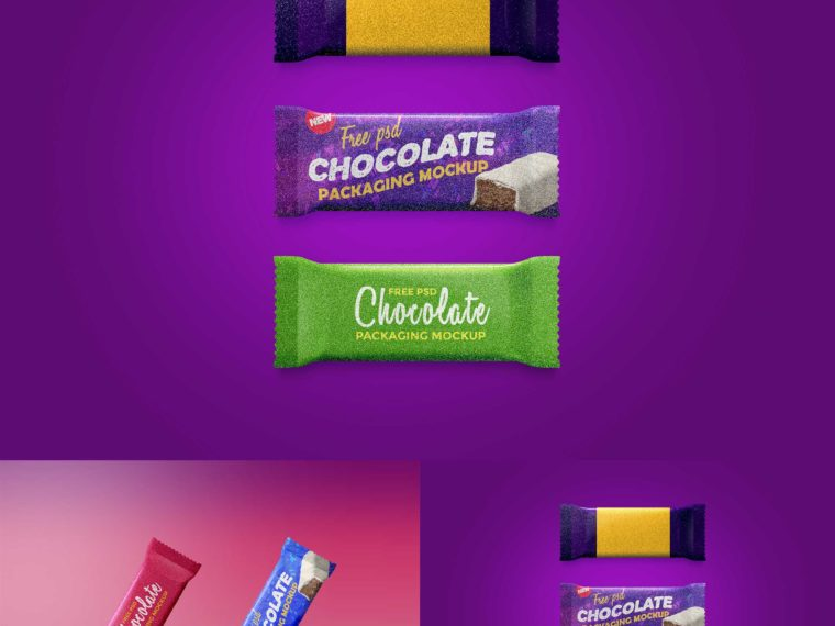 Premium Chocolate Packaging Mockup