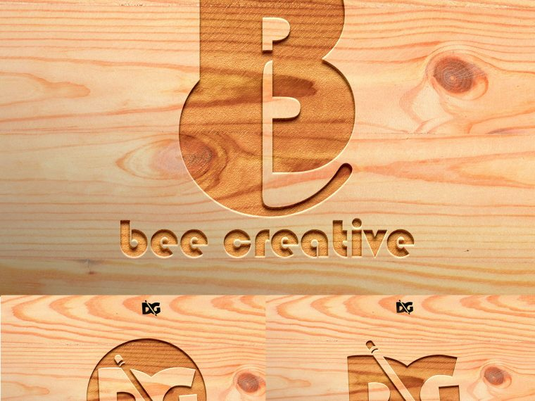 Logo Mockup Presentation Wood Board