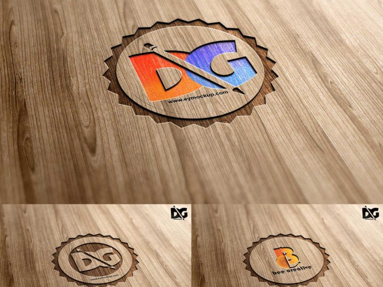 Laser Cutline Wood  PSD Mock-up