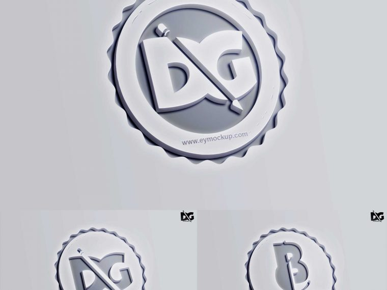 Premium Plastic Sheet Logo Mock-up