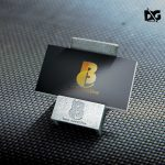 Steel Craft Card Holder Mockup