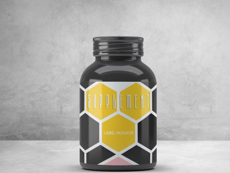 Supplement Label Mockup 2018