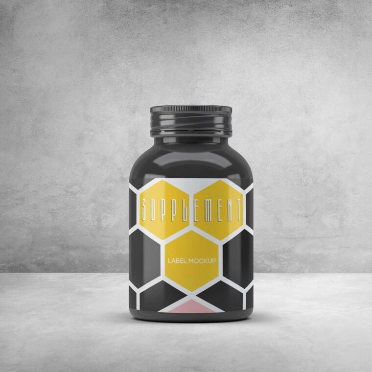 Supplement Label Mockup