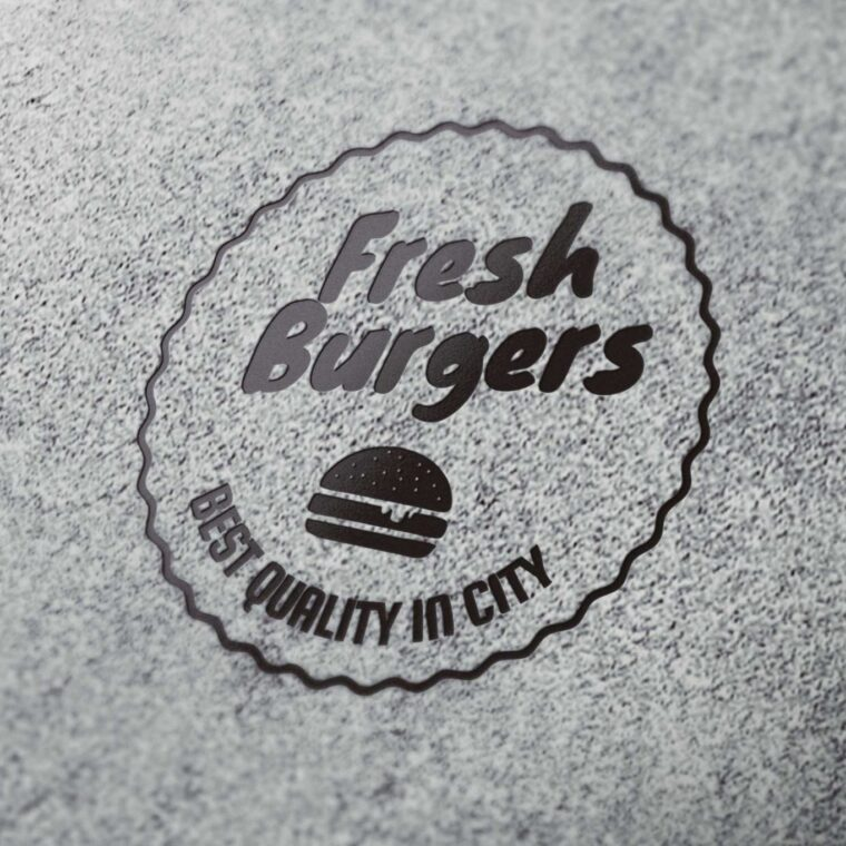 Burger Label Mockup