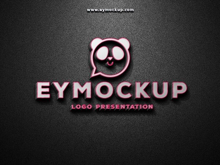 3D Premium Logo Mockup