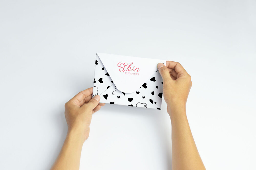 Clean Invitation Envelope Label Mockups